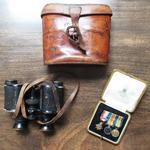 Binoculars & case.