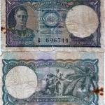 Ceylonese One Rupee note