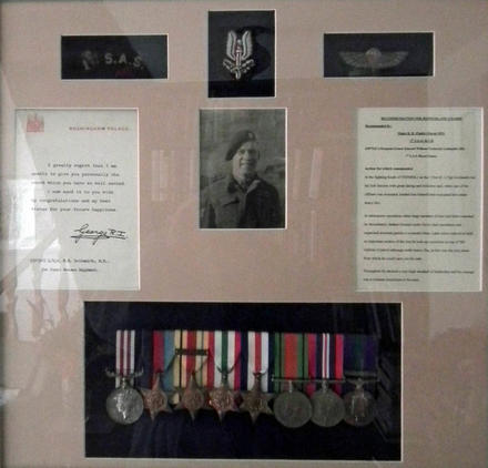 Frame of items of LSgt. Goldsmith MM