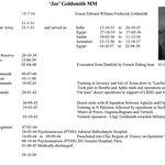 Lance Sergeant Ernest 'Joe' Goldsmith MM service history