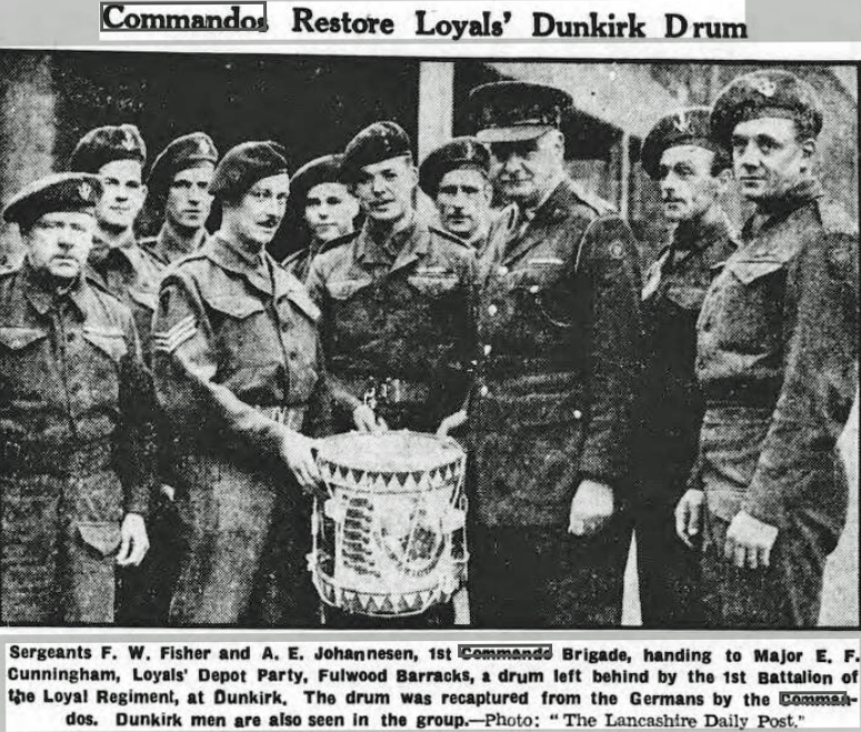 Commandos restore Drum to The Loyals.