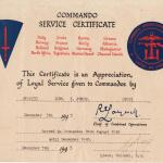 Idris Jones Commando Certificate