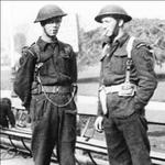 Joe Jeff and Reg Child, RN Beach Commando P 'Peter', Isle of Wight.