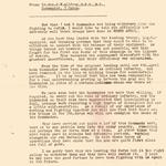 Letter to HQ Combined Ops from Lt Gen C W Allfrey, Commander 5 Corps