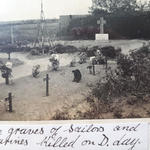 The Graves of Sailors and Marines killed on D-Day