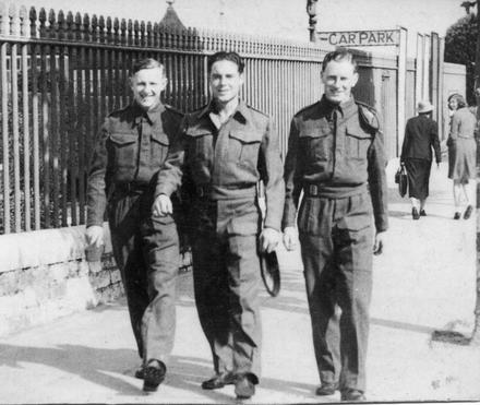Mnes. Laurie Southall (left), Les Bradshaw, and Bernie Brown (right) at Ryde, IoW