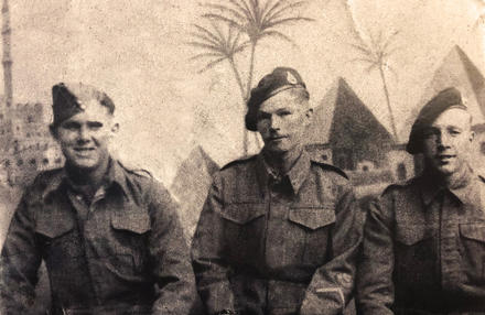 William Henry Grant-Hanlon (centre) 42RM Cdo. and others