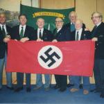 No.3 Cdo veterans display captured German flag