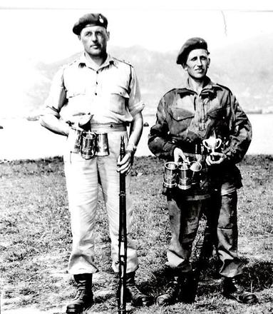 Capt William Robson and Sgt Mortiboys