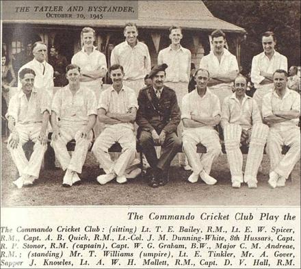Commando Cricket Club v New Zealand Armed Forces, 6 September 1945