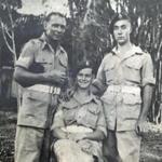 Sgt. Ellington, Cpl. B. Newberry, Cpl. John 'Jack' O'Sullivan, Colombo 25 Feb. 1946