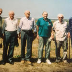 42RM Cdo Veterans return to Burma - Ted Ridley, Willie Falconer, John Headley, Les Wood, Tug Wilson, John Street