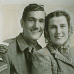 Cpl. Walter Gibbs 40 RM Cdo., and his wife Mary