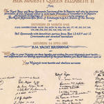 St Nazaire Society signatures 1982