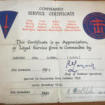Commando Service Certificate for Donald Owen