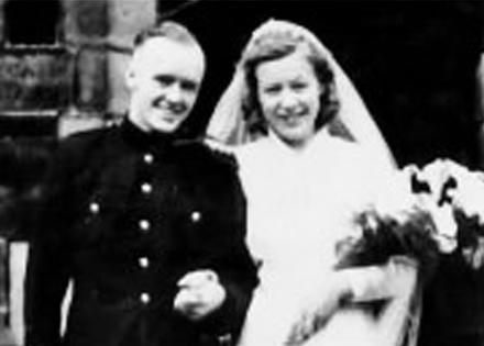 Pte. James Edmondson and his wife Joan
