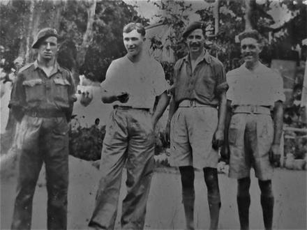 Cyril Pritchard No.1 Cdo (3rd from left) and others