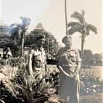 Cpl. Albert Edward Read RM (left) 3 Bde Signals, and another.