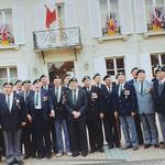 47RM Commando 'Y' Troop veterans at Normandy - 49th anniversary