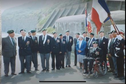 47RM Commando veterans at Normandy - 49th anniversary