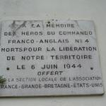 No.4 Commando plaque, Ouistreham (1)