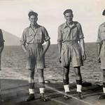 Mne. George Kirby (2nd from left) and others 1945