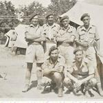 Mne. Gordon Smith (1st left) and others, 40RM Commando
