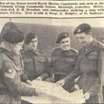 Lt. Col. D.B. Drysdale, OC 41 independent Commando RM briefs some senior NCO's before Korea