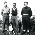Mne Ernest Poyner 40RM Cdo.(on left) and 2 others, Corfu