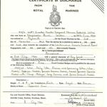 QMS Norman Frederick Lyon RM Discharge Certifcate