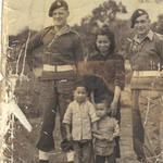 Stan Worsley (left), 45 Cdo., in Hong Kong or Singapore c.1946