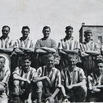 Reginald Stanley Mabey (front 2nd left) and others Bari Italy 1944