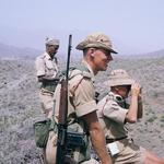 Lt Ian Martin MBE and Maj David Langley MC, 45 Commando RM, Aden Protectorate 1964