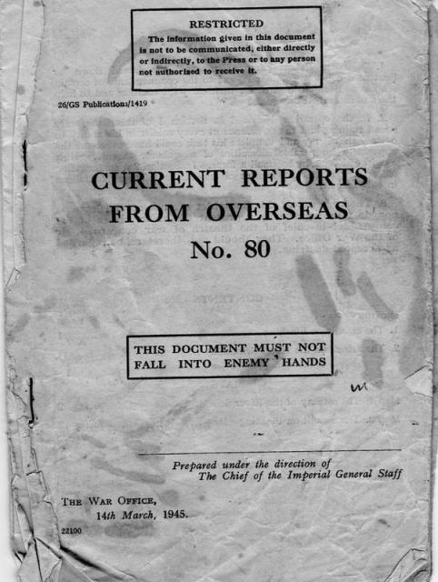 Report on Flushing front cover
