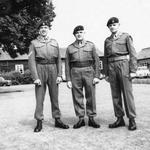 Cpl. Jack French (left), Sgt Jock Wilkinson, and Cpl. David Prichard stood where the Sick Bay now stands