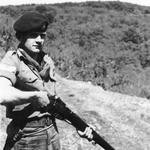 "Cpl David Prichard with .303"" Lee Enfield."