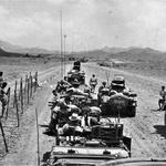 Lt Ian Campbell Clark in convoy, Aden, circa 1960/61.