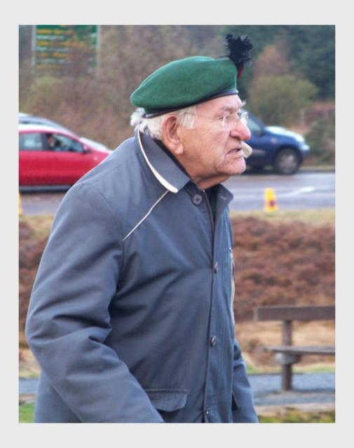 No9 Commando Veteran, Spean Bridge 2009
