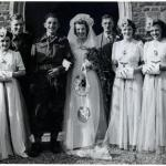 Albert Bacon on his wedding day