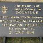 Nos.3 and 6 Commando plaque, Douville