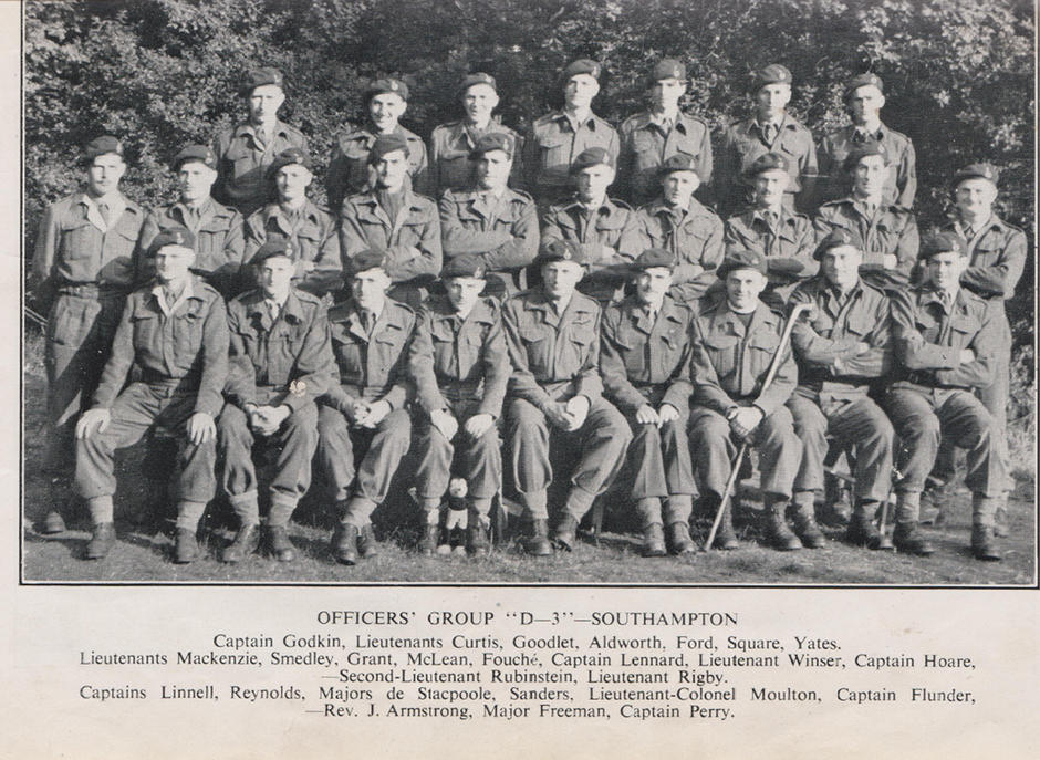 48 RM Commando Officers 1944 nine of whom were later killed in action