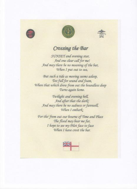 Crossing The Bar By Alfred Lord Tennyson