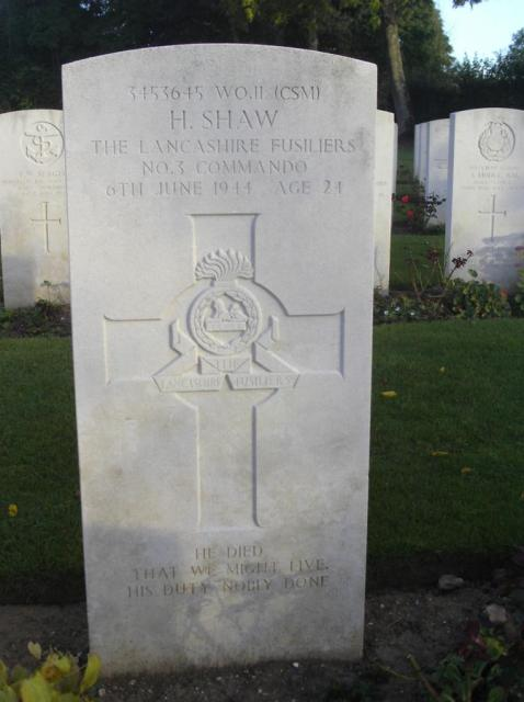 Warrant Officer Harry Shaw