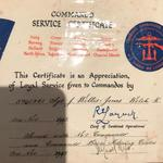 Commando Service Certificate for Sgt John Willis-Jones