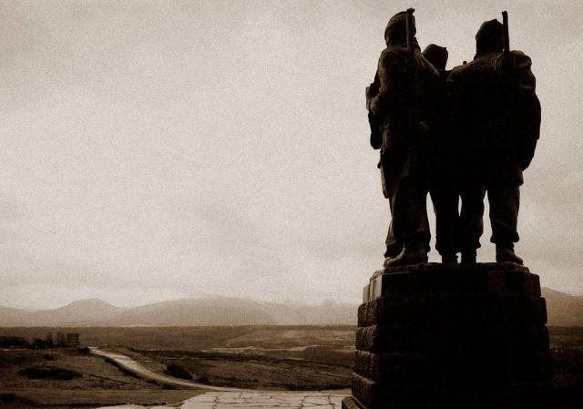 Commando Memorial in the evening