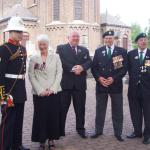Ceremony in honour of L/Cpl Henry Eric Harden VC .