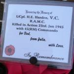 Wreath laid by Julie Wells May 2007