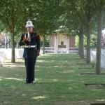 Bugler at the Nederweert War Cemetery 2007