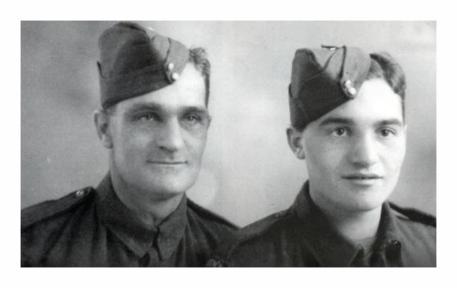 Stan Scott and his father 1942