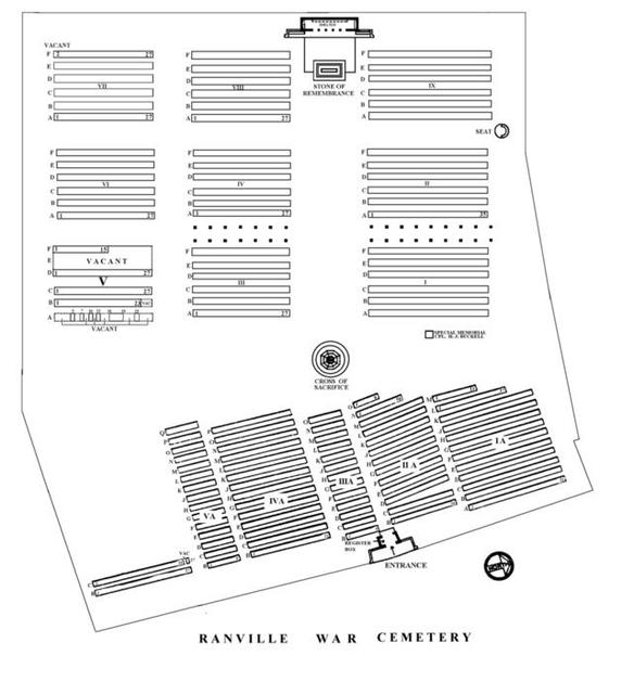 Ranville Cemetery map